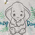 Disney Store Lot de 3 bodys Dumbo, Bambi et Simba pour bébé
