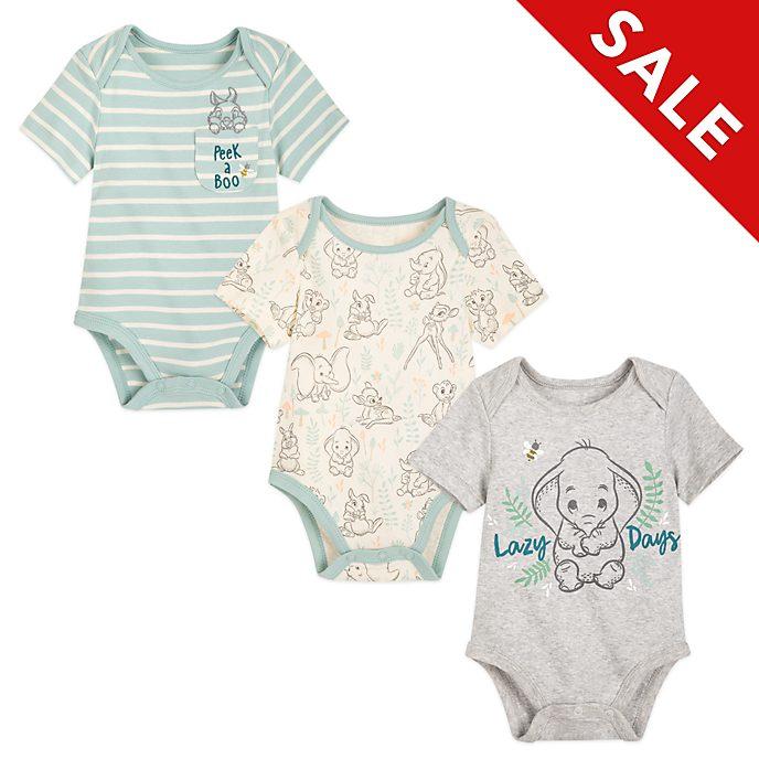 Disney Store - Dumbo, Bambi und Simba - Baby Bodys, 3-er Set
