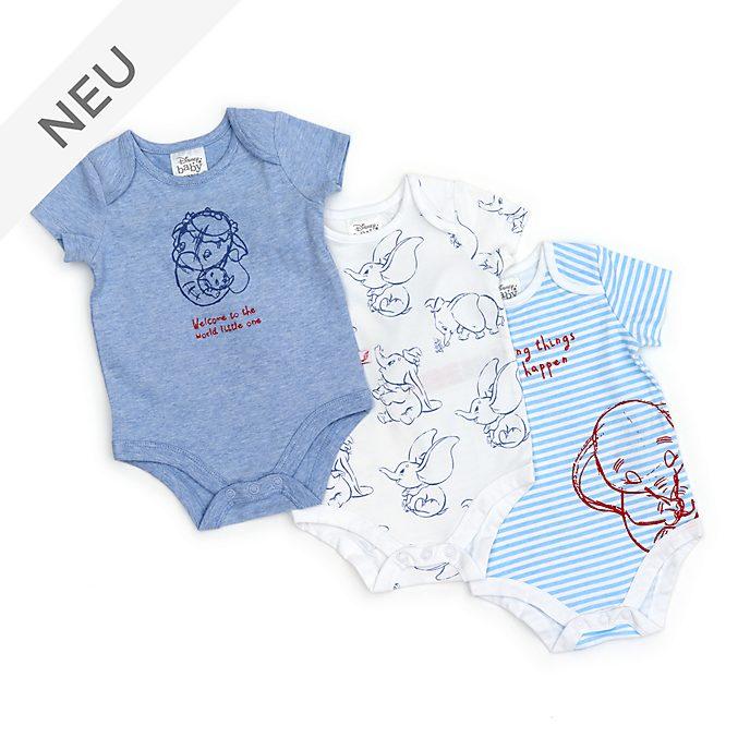 Disney Store - Dumbo - Baby Bodys, 3-teiliges Set