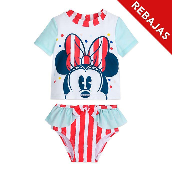 Bañador Minnie Mouse para bebé, Disney Store (2 piezas)