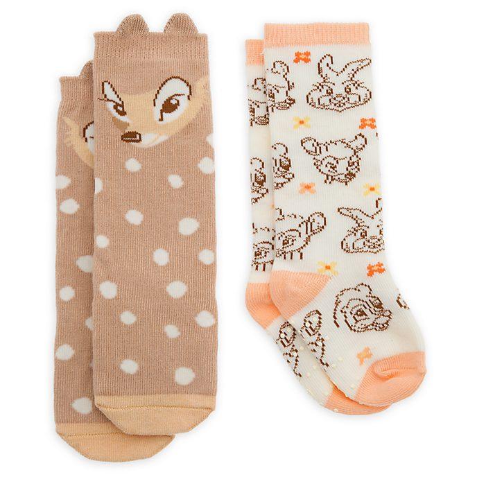 Disney Store Lot de 2paires de chaussettes Bambi pour bébé