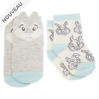 Disney Store Lot de 2paires de chaussettes PanPan pour bébé