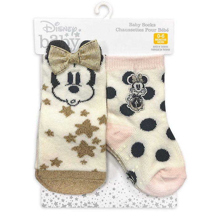 Disney Store Lot de 2paires de chaussettes Minnie pour bébé