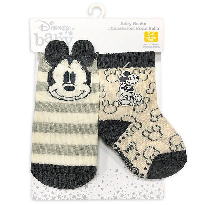 Disney Store Mickey Mouse Baby Socks, 2 Pairs