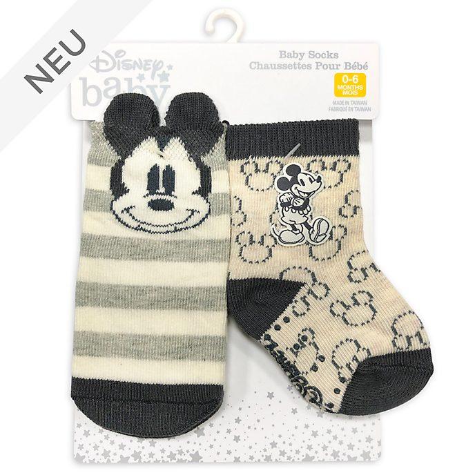Disney Store - Micky Maus - Babysocken, 2 Paar