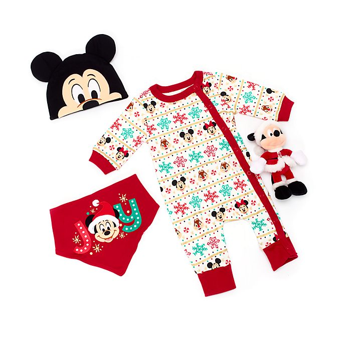 Disney Store Mickey and Friends Holiday Cheer Baby Gift Set