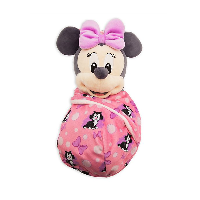 Disney Store Minnie Mouse Small Soft Toy in Pouch