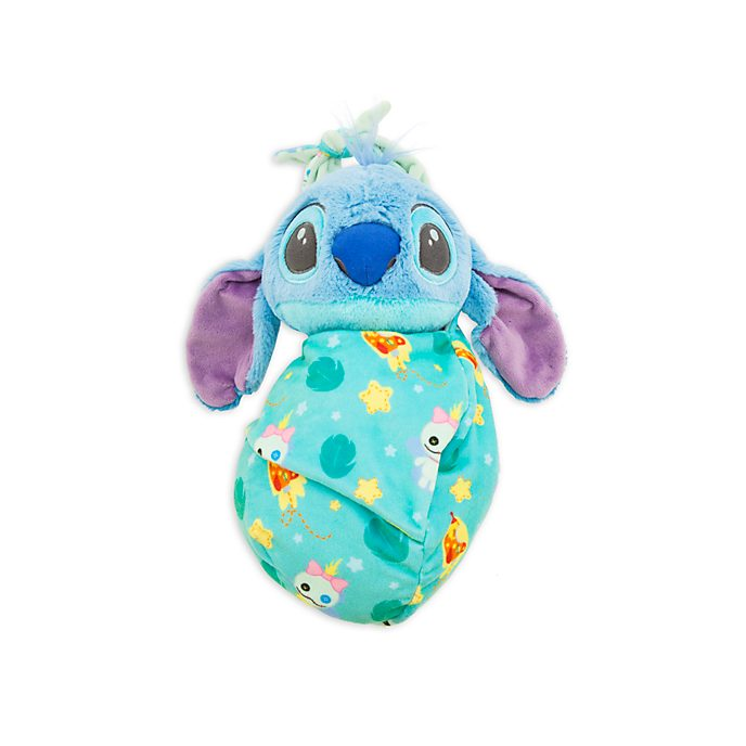 Disney Store - Stitch - Kuscheltier in Wickeldecke