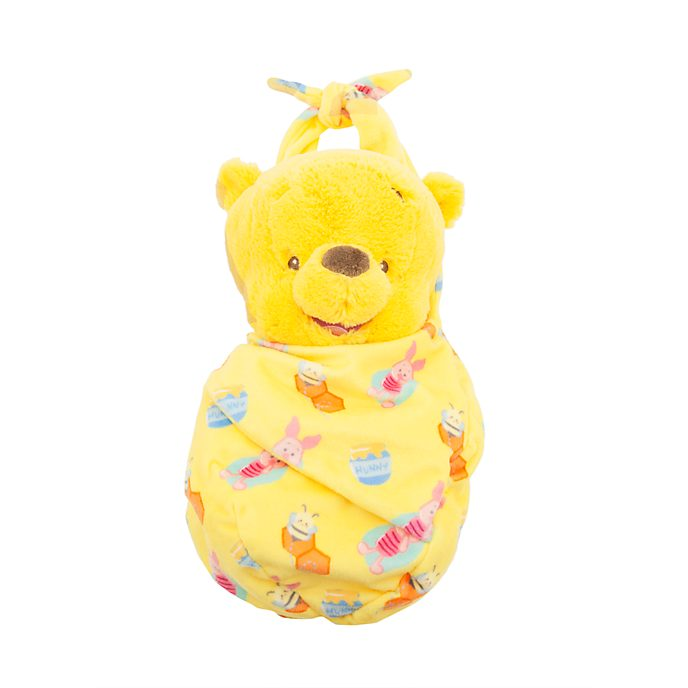 Disney Store Winnie the Pooh Disney Babies Small Soft Toy in Pouch