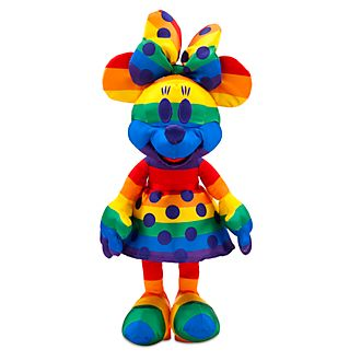 Disney Store Minnie Mouse Rainbow Disney Soft Toy
