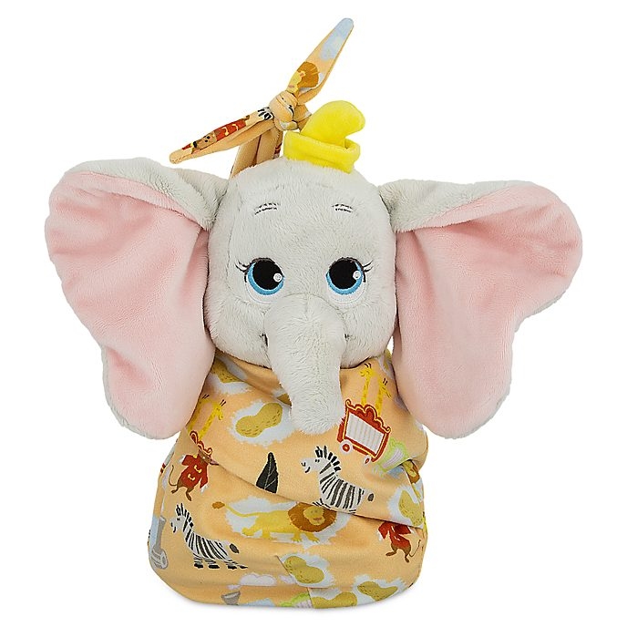 Disney Store Dumbo Disney Babies Small Soft Toy in Pouch