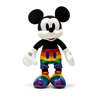 Disney Store Mickey Mouse Rainbow Disney Medium Soft Toy