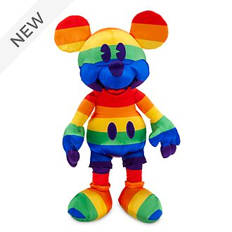 Disney Store Mickey Mouse Rainbow Disney Soft Toy