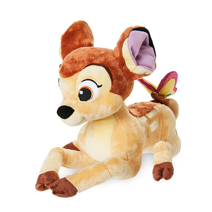 Bambi mit Schmetterling Kuscheltier mittelgroß