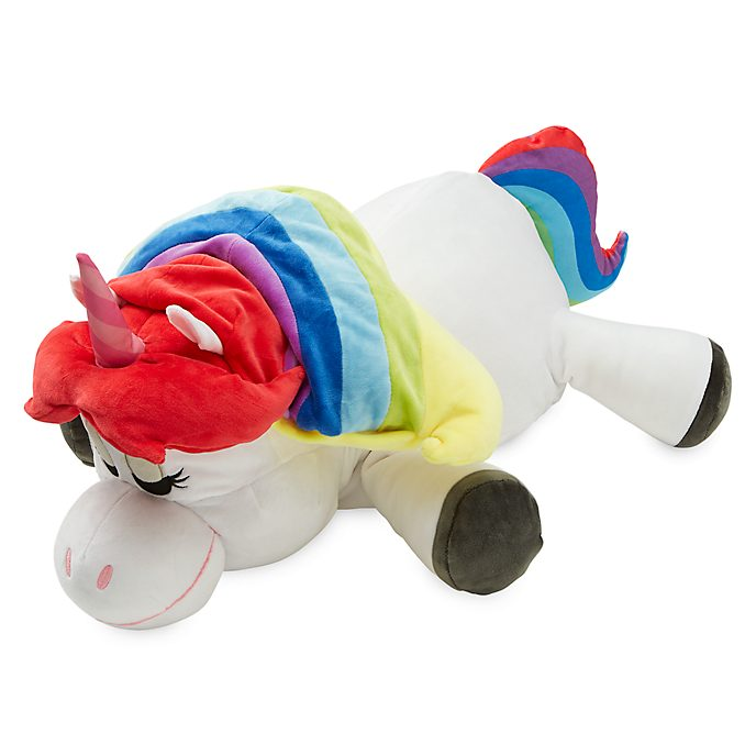 Disney Store Rainbow Unicorn Cuddleez Large Soft Toy