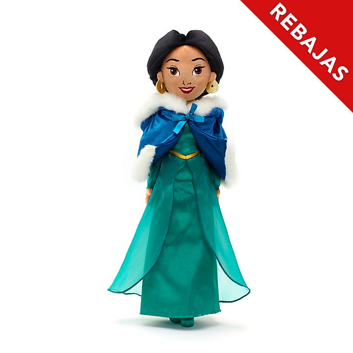 Muñeca peluche vestido invierno princesa Jasmine, Disney Store