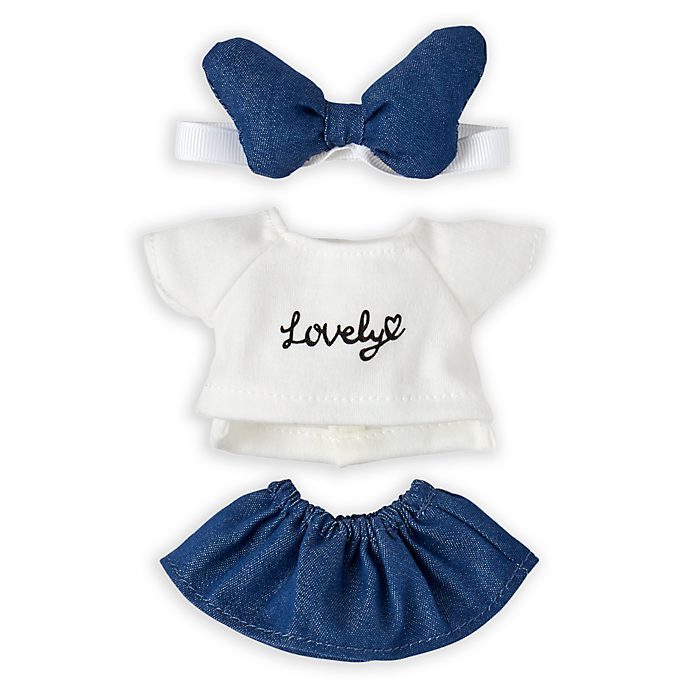Disney Store nuiMOs Small Soft Toy Top and Denim Skirt Set