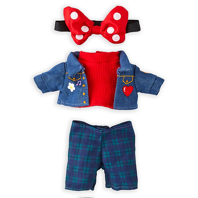 Disney Store nuiMOs Small Soft Toy Denim Shirt and Check Trousers Set