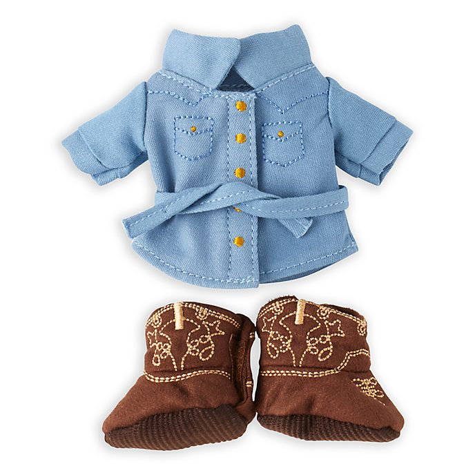 Disney Store nuiMOs Small Soft Toy Denim Shirt and Boots Set