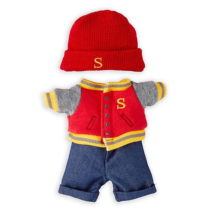 Disney Store nuiMOs Small Soft Toy Varsity Jacket and Jeans Set