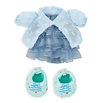 Disney Store nuiMOs Small Soft Toy Ruffled Dress and Jacket Set