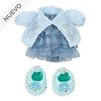 Conjunto vestido fruncido y chaqueta, peluche pequeño nuiMOs, Disney Store