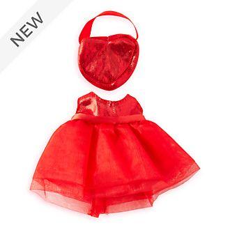 Disney Store nuiMOs Small Soft Toy Red Dress and Handbag Set