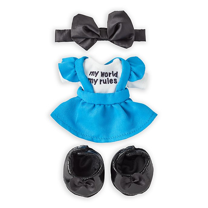 Disney Store nuiMOs Small Soft Toy Alice in Wonderland Outfit Set