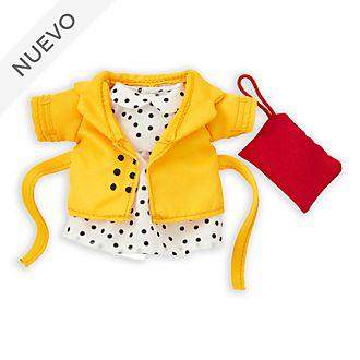 Conjunto vestido lunares y chaqueta, peluche pequeño nuiMOs, Disney Store