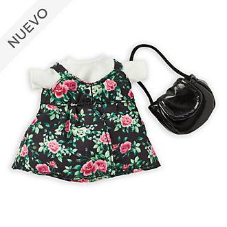 Conjunto vestido floral y camiseta, peluche pequeño nuiMOs, Disney Store