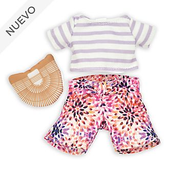 Conjunto camiseta a rayas y pantalones, peluche pequeño nuiMOs, Disney Store