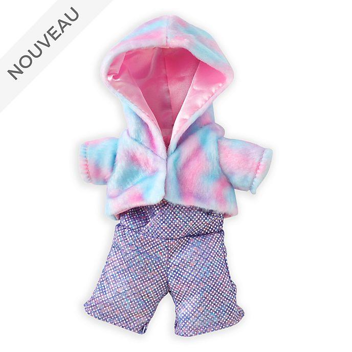 Disney Store Manteau rose en coton et combinaison disco pour petite peluche Disney nuiMOs