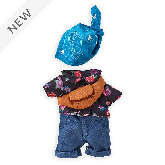 Disney Store nuiMOs Small Soft Toy Floral Shirt with Bandana and Sling Bag