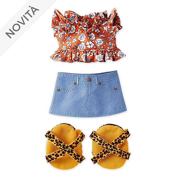 Camicia arricciata con minigonna e sandali con stampa leopardata per peluche piccoli nuiMOs Disney Store