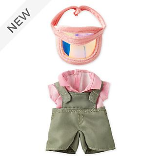 Disney Store nuiMOs Small Soft Toy Olive Overalls with Pink Visor