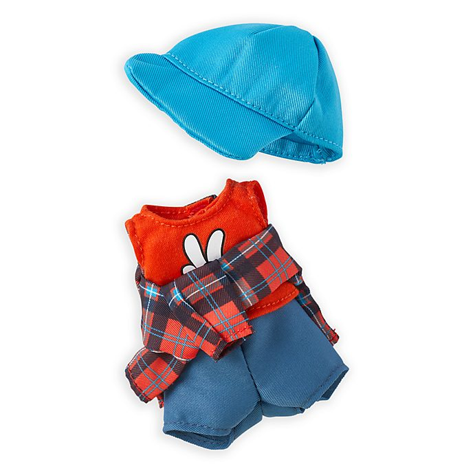 Disney Store nuiMOs Small Soft Toy Tank Shirt with Blue Cap and Plaid Flannel