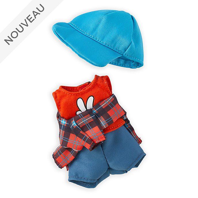 Disney Store Débardeur et casquette bleue avec chemise à carreaux en flanelle pour petite peluche Disney nuiMOs