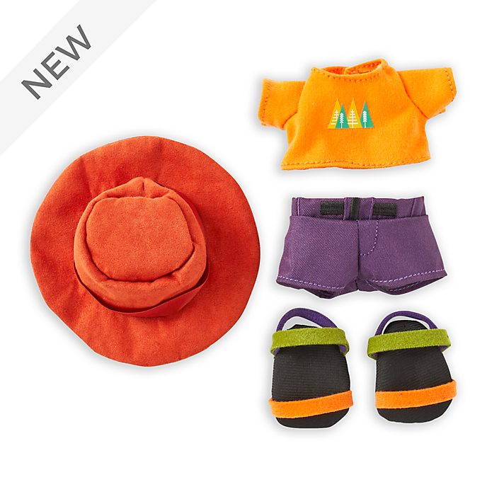 Disney Store nuiMOs Small Soft Toy Orange T-Shirt with Brimmer Hat and Sandals