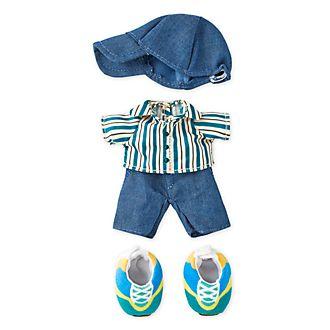 Camisa a rayas, gorra y zapatillas, peluche pequeño nuiMOs, Disney Store