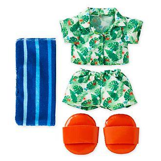 Disney Store Ensemble chemise hawaienne et short avec serviette pour petite peluche Disney nuiMOs