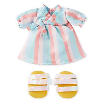 Vestito a righe pastello con sandali con fascette per peluche piccoli nuiMOs Disney Store