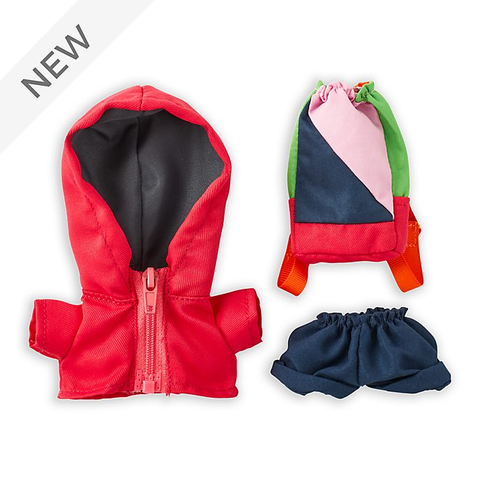 Disney Store nuiMOs Small Soft Toy Windbreaker Jacket with Backpack