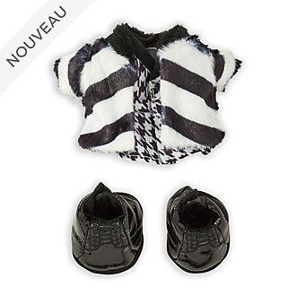 Disney Store Ensemble manteau en peluche, robe et bottines noires pour petite peluche nuiMOs