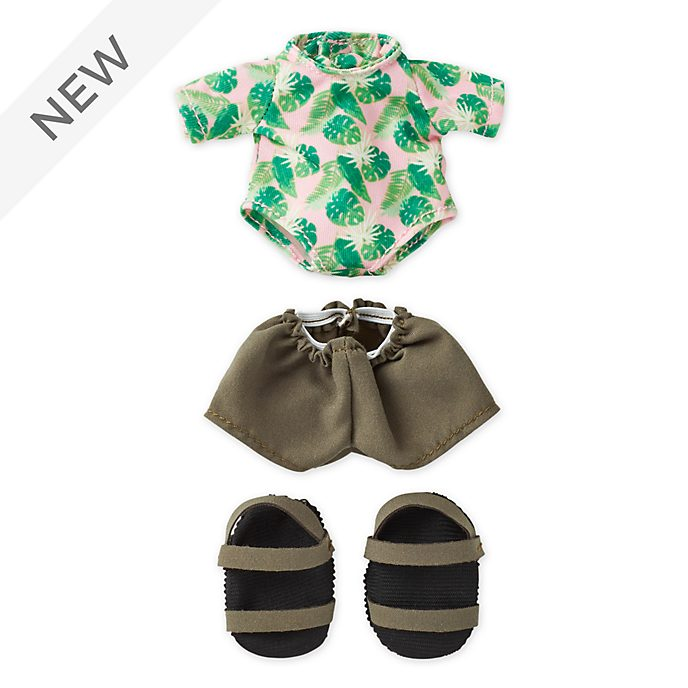 Disney Store nuiMOs Small Soft Toy Rashguard with Shorts and Strap Sandals