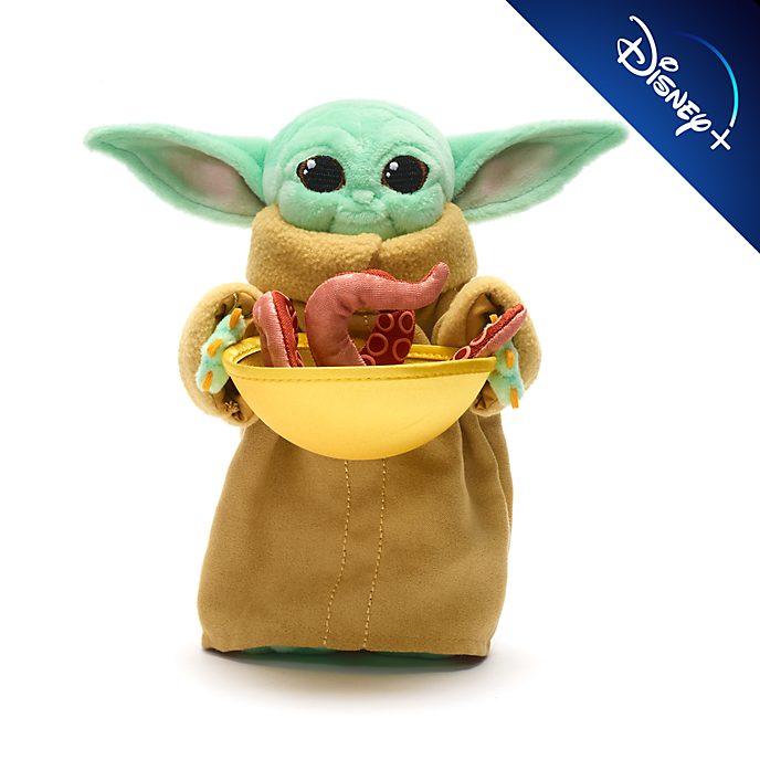 Disney Store Grogu with Squid Mini Bean Bag, Star Wars