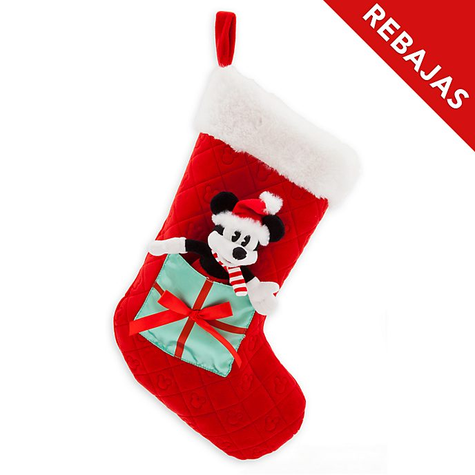 Calcetín Navidad Mickey Mouse, Holiday Cheer, Disney Store