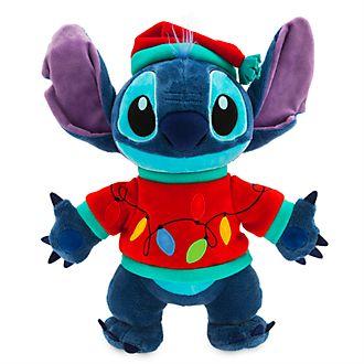Disney Store Stitch Light-Up Holiday Cheer Medium Soft Toy