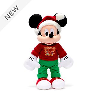 Disney Store Mickey Mouse Holiday Cheer Medium Soft Toy