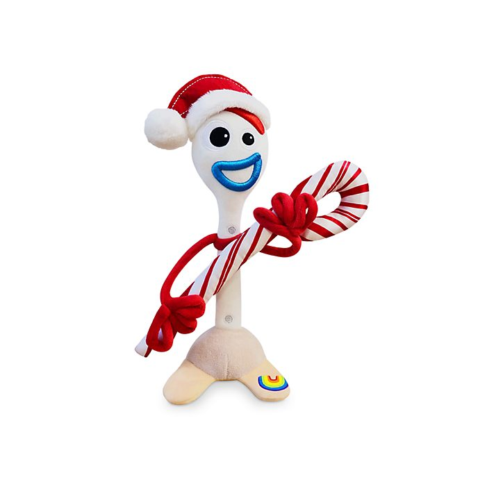 Disney Store Forky Holiday Cheer Small Soft Toy