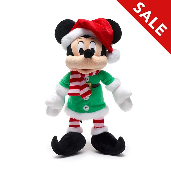 Disney Store Mickey Mouse Holiday Cheer Small Soft Toy